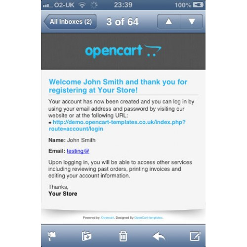 Opencart Professional Html Email Template