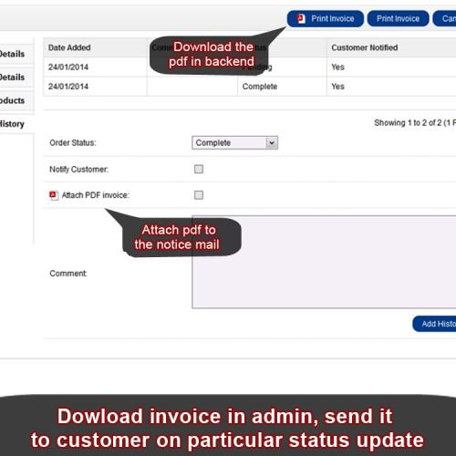 OpenCart  Invoice Lite