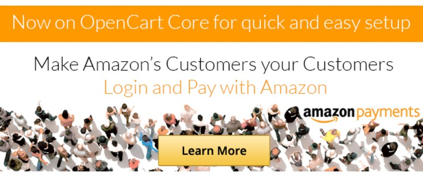 Set up in minutes - Amazon Payments now on OpenCart core