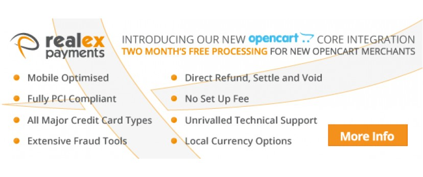 Increase your sales with OpenCart and Realex Payments