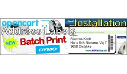 DYMO Address Label (5.x.x) Installation Fee