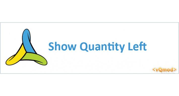 Show Quantity Left (vQmod)