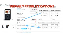 Default Product Options + Category Include (1.5...