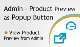 Admin  - Product Preview as Popup Button