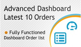Advanced Dashboard Latest 10 Orders - SALE 30% D..