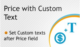 Price with Custom Text