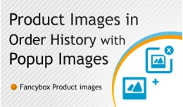 Product Images in Order History with Popup Images