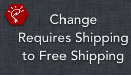 (1.5.x) Change Requires Shipping to Free Shipping