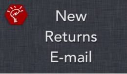 New Returns E-mail