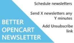 Better OpenCart Newsletter module