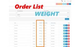 (VQMOD) Weight column on Admin Order List (2.x.x)