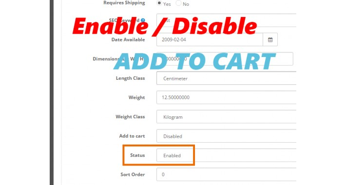 (VQMOD) Disable / Enable add to cart for each product 2.x.x.x