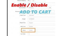 (VQMOD) Disable / Enable add to cart for each pr..