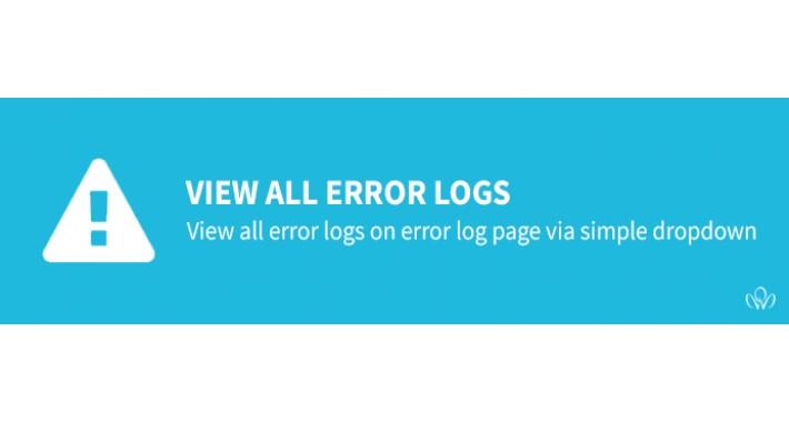 View all error logs on error log page [OCmod][FREE]