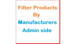 Products filter by Manufacturer