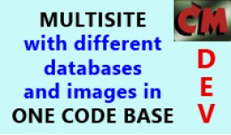 Multisite with different databases and images