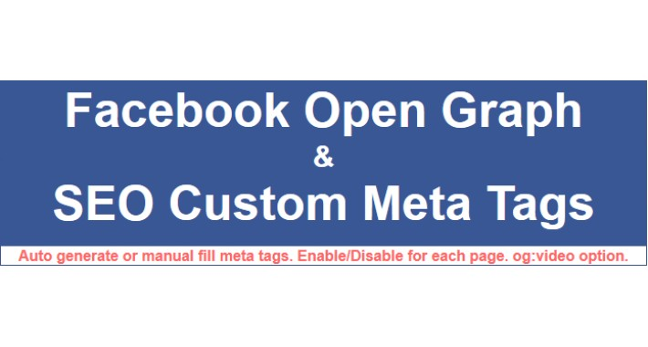 Facebook Open Graph & SEO Custom Meta Tags