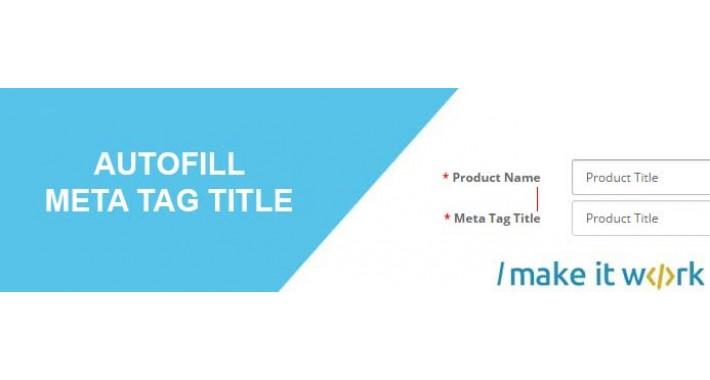 Autofill Meta Tag Title