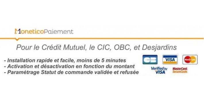 Monetico Paiement - CM-CIC-OBC-Desjardin - Partenaire Officiel