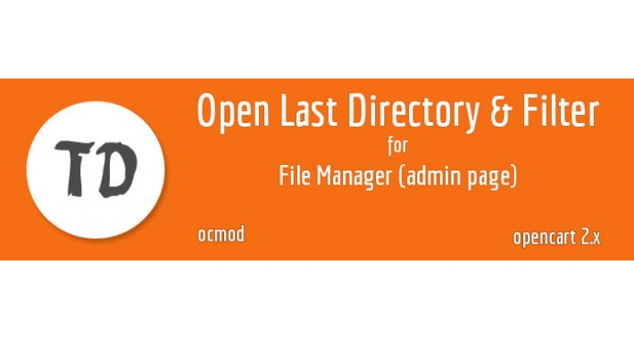 Open Last Directory And Filter