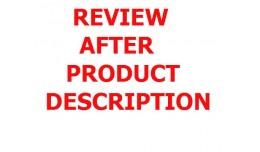 Review after product description