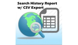 Search History Report/Export CSV (2.x)