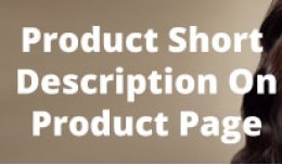 Short Description On Product Page