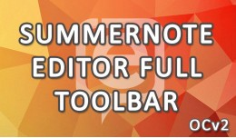 Summernote Editor Full Toolbar