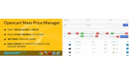 Opencart Magik Mass Price Manager