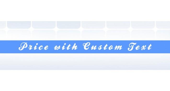 Price with Custom Text