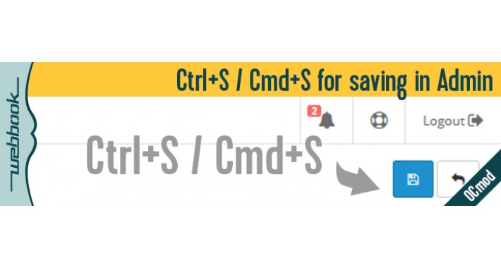 Ctrl+S / Cmd+S for saving in Admin (OCmod)