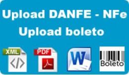 Upload de boleto, imagens, arquivos ou XML E PDF..