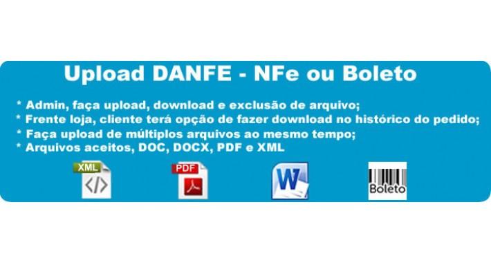 Upload de boleto, imagens, arquivos ou XML E PDF DANFE (NFe)