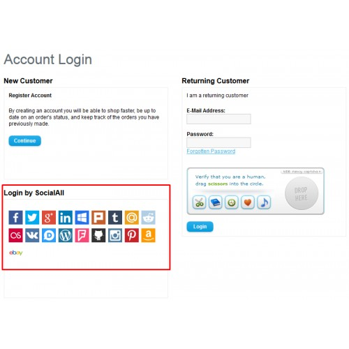 OpenCart - Social Login (powered by SocialAll) [vQ-Mod]