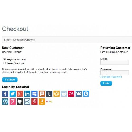 OpenCart - Social Login (powered by SocialAll) [vQ-Mod]