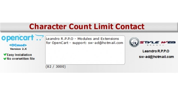 Character Count Limit Contact