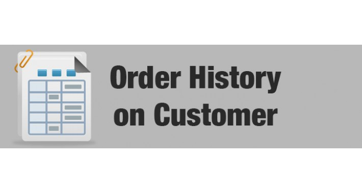 Show Order History tab on Customer page