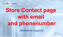Store contact page with email and phonenumber