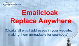 Emailcloak Replace Anywhere