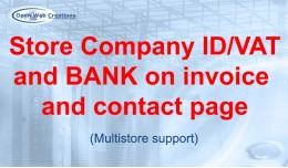 Store Company ID/VAT/IBAN/BIC