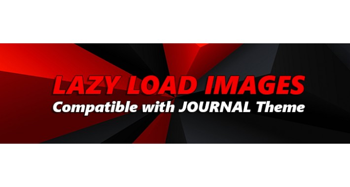 (VQMOD) Lazy load Images - Compatible with Journal Theme