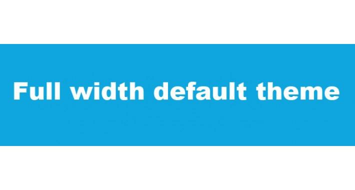 Full width default theme