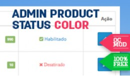 Admin Product Status Color
