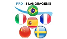 ✔	Spanish Italian Chinese Swedish Portuguese F..