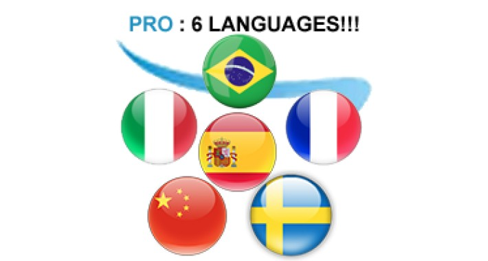 ✔	Spanish Italian Chinese Swedish Portuguese French Vietnamese