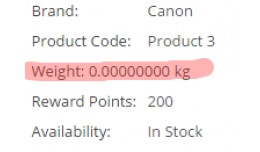 Show Weight On Product Page
