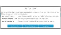 Merge/Restore Cart Notification - vQmod (1.5.x/2..