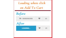 Add to cart button loading effect