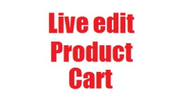 Live edit product cart frontend without admin