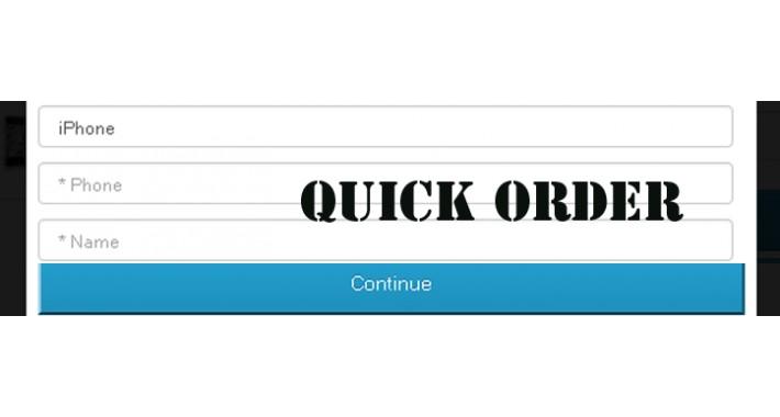 Quick order 2.0
